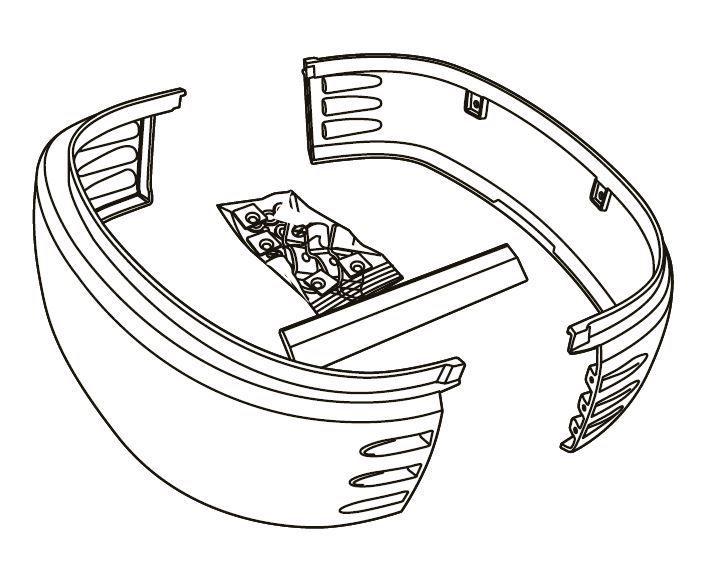 Kit plastique latéraux de remplacement Shad pour top case SH50