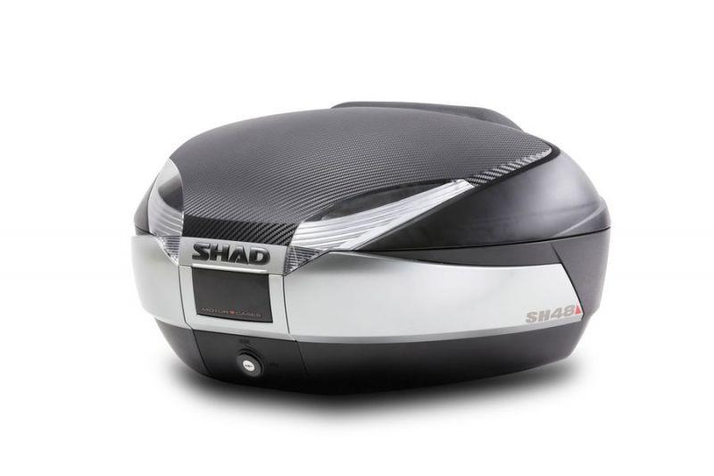 Top case SHAD SH48 Noir/Titanium Dessus Carbone