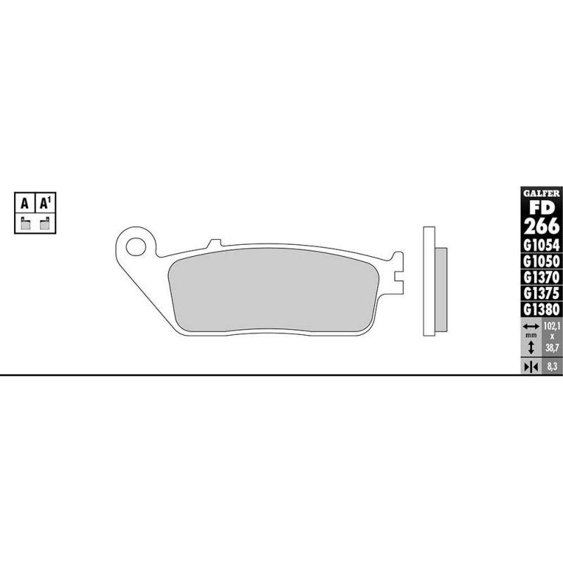 Plaquettes de frein Galfer G1054 semi-métal FD266 - 1