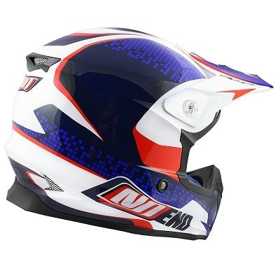 Casque cross Noend Defcon By OCD TX696 Patriot bleu/blanc/rouge - 1