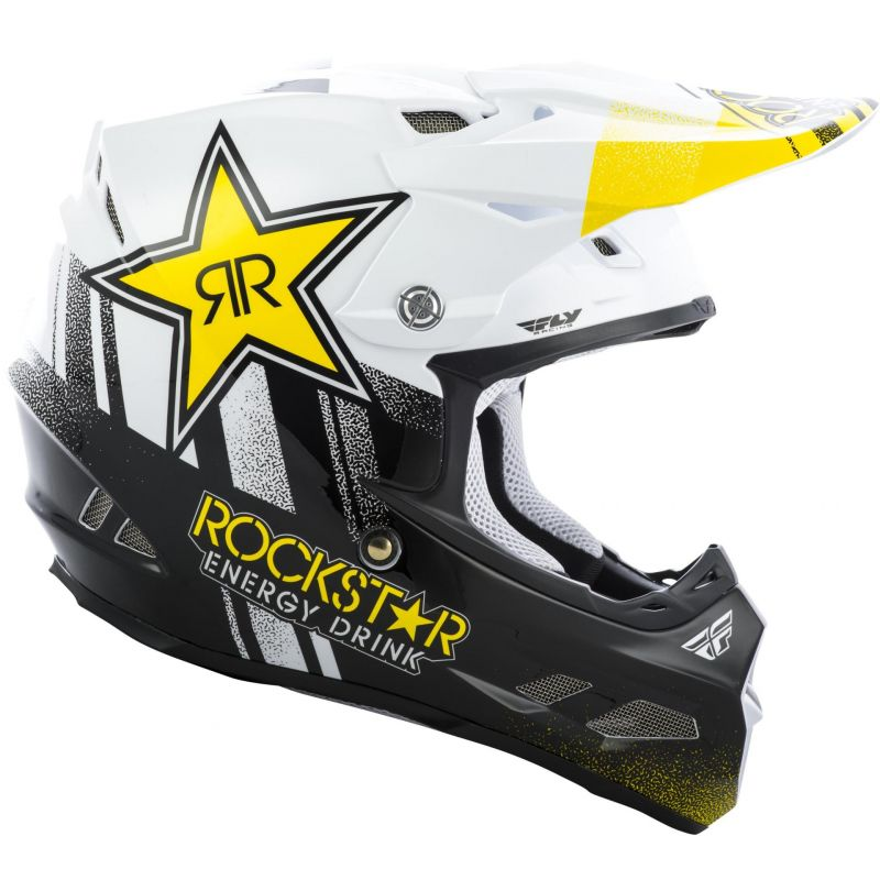 Casque cross Fly Racing F2 Rockstar noir/blanc - 1