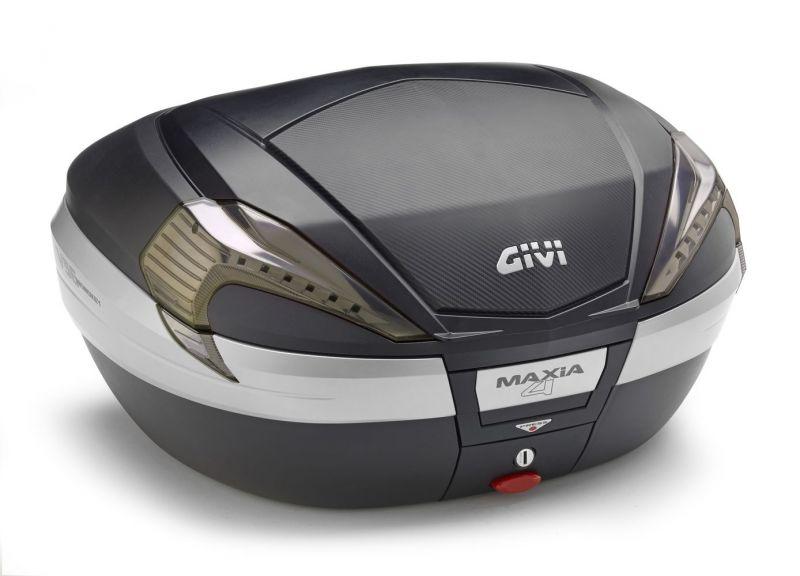 Top case Givi V56 MAXIA4 56L noir/carbone catadioptres fumés