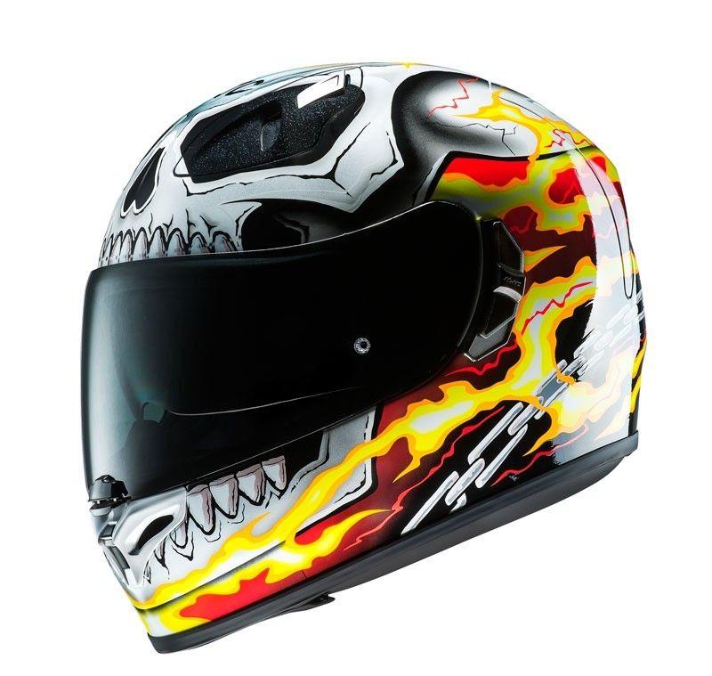 casque int gral hjc fg st ghost rider marvel mc1 casques moto sur la b canerie. Black Bedroom Furniture Sets. Home Design Ideas