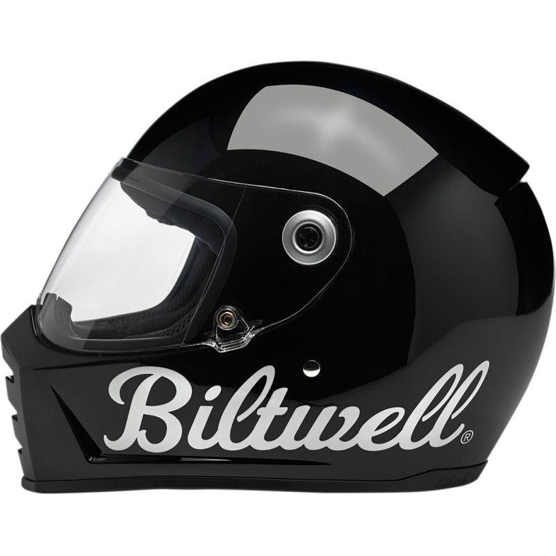 Casque intégral Biltwell Lane Splitter Factory noir brillant - 2