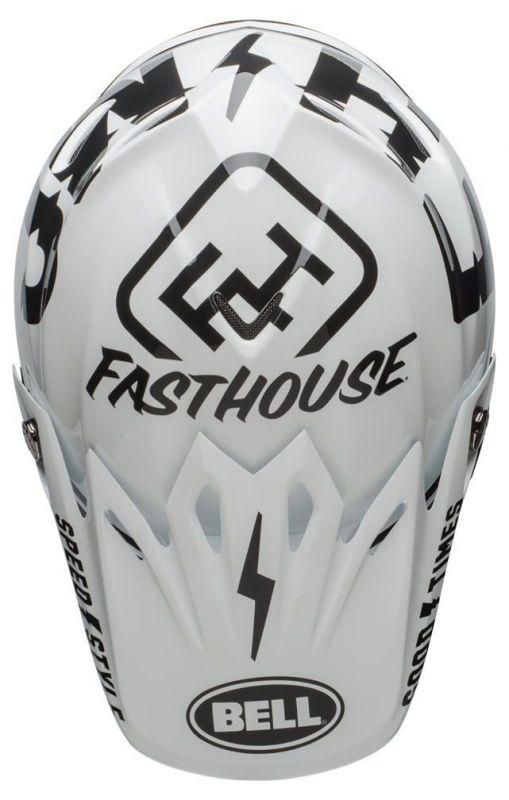 Casque cross Bell Moto 9 Mips Fasthouse Gloss noir mat/blanc - 5