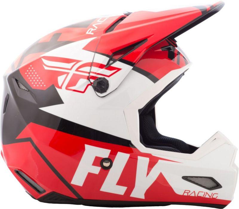 Casque cross Fly Racing Elite Guild rouge/blanc/noir - 1