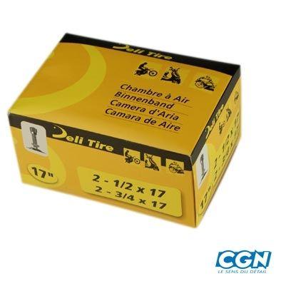 Chambre air 17 2 3 4x17 vs deli valve droite filet e for Chambre a air mobylette
