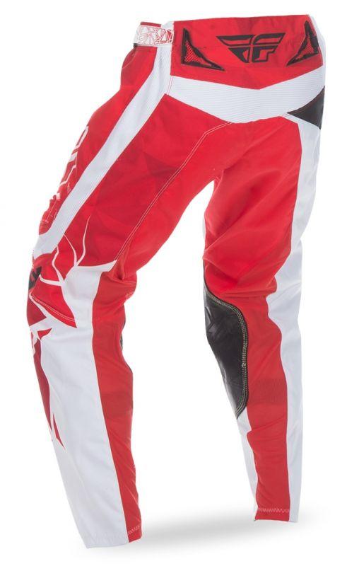 Pantalon cross Fly Racing Kinetic rouge/blanc - 2