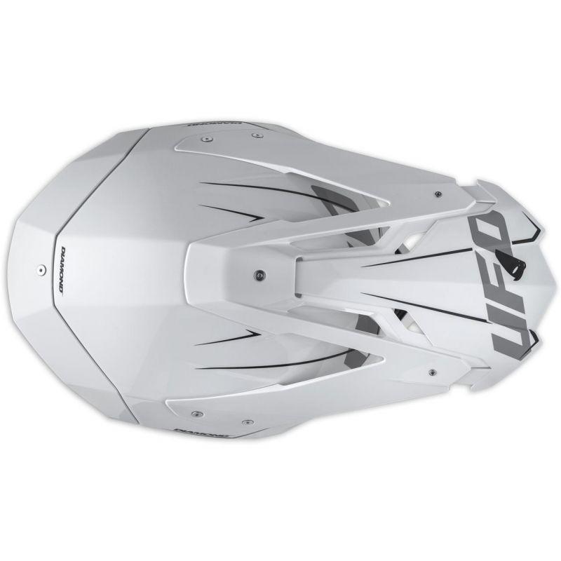 Casque cross UFO Diamond blanc / gris / vert - 3