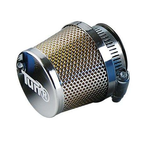 Filtre à Air Tun'R D28-35 Conique Grille Droit Chrome/Chrome