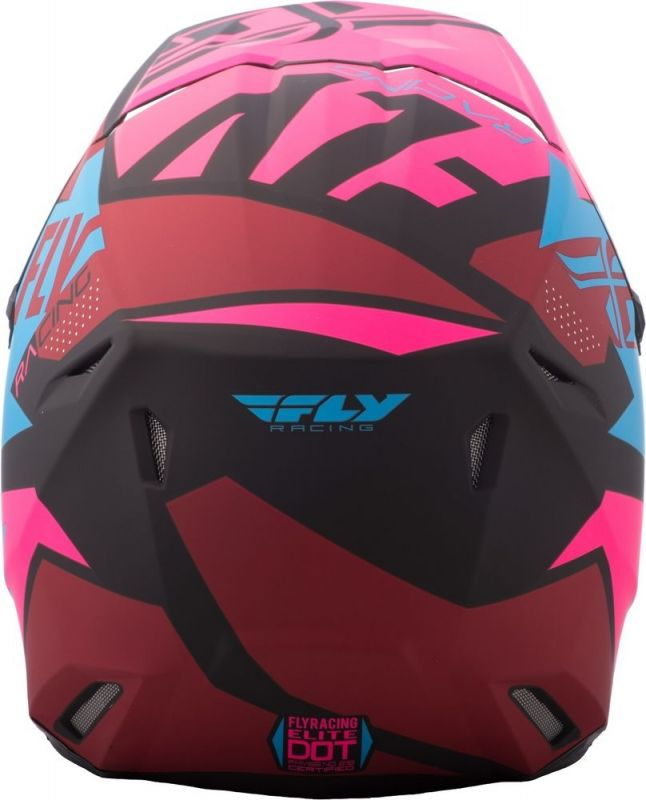 Casque cross Fly Racing Elite Guild noir/rose/bleu - 2