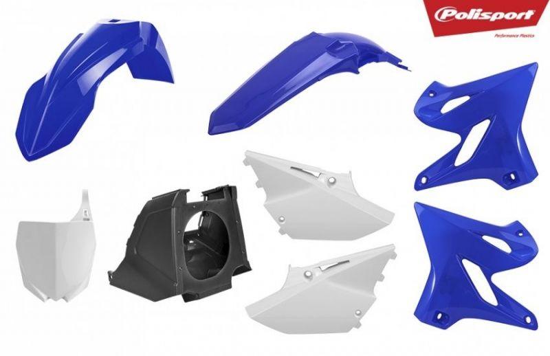 Kit Plastique Polisport Restylé Yamaha 250 Yz 02 17 Bleunoirblanc