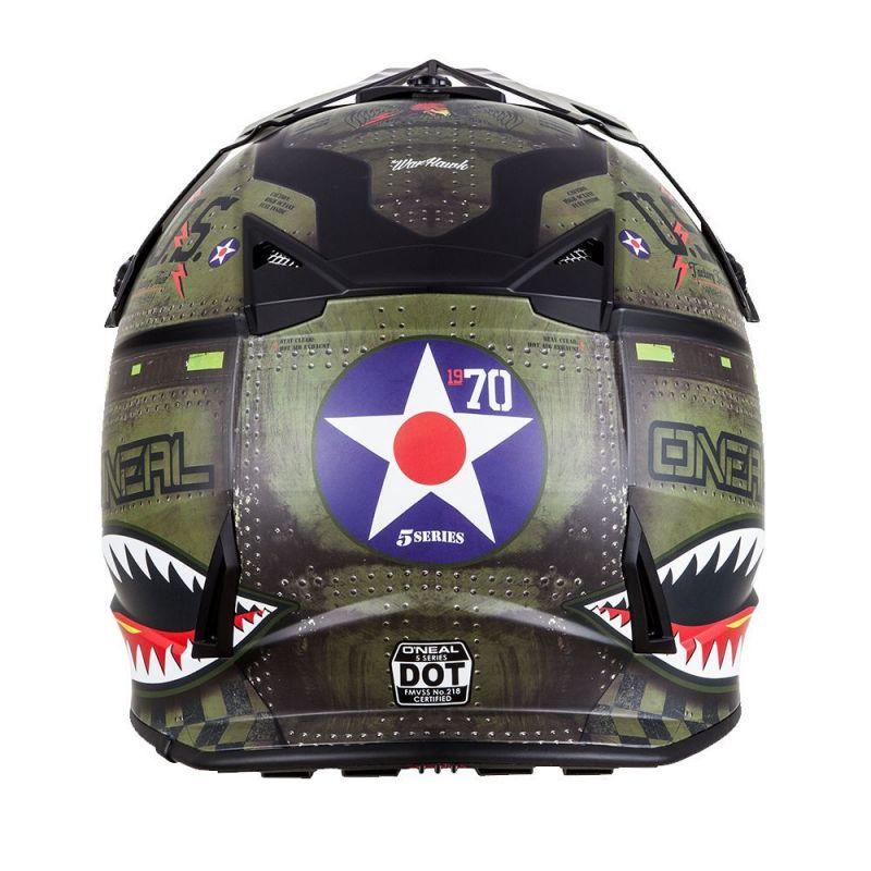 Casque cross O'Neal 5SRS Warhawk noir/vert - 1