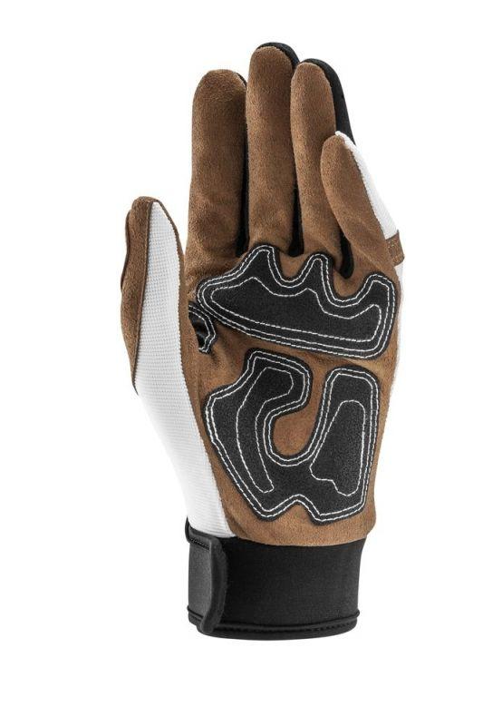 gants acerbis ottano blanc marron quipement route sur la b canerie. Black Bedroom Furniture Sets. Home Design Ideas