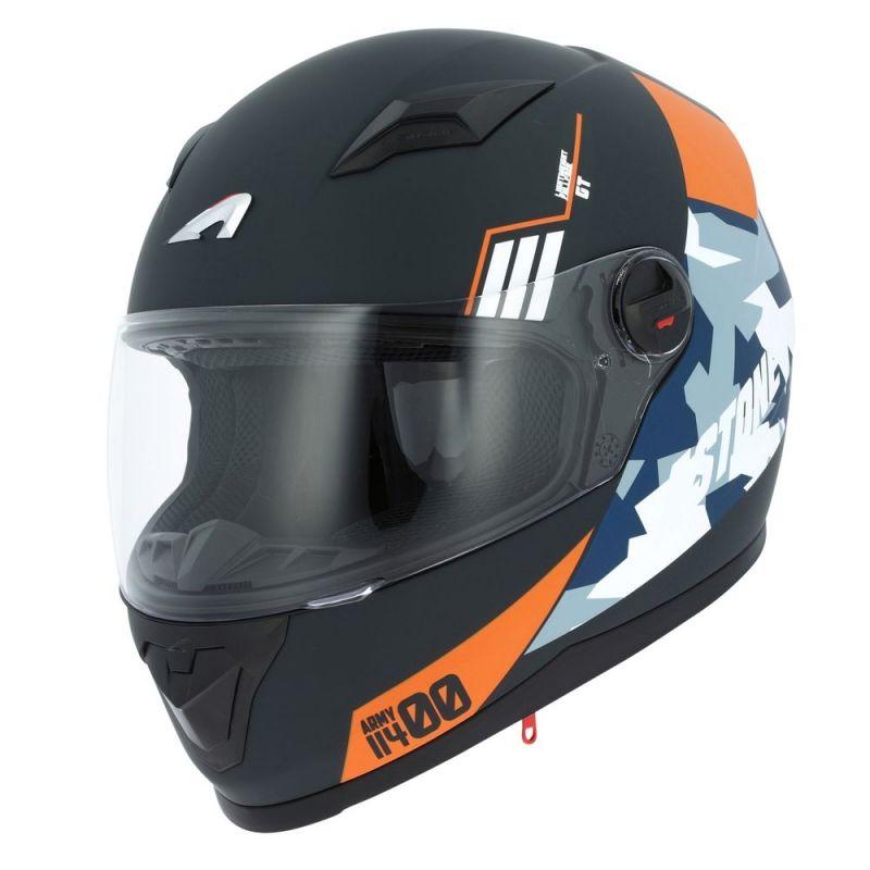 Casque intégral Astone GT2 Graphic ARMY noir/orange mat
