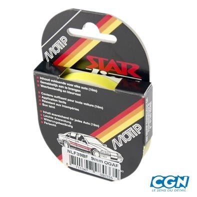 Liseret Autocollant Fluo Jaune 9mmx10m pour Jante ou Carrosserie