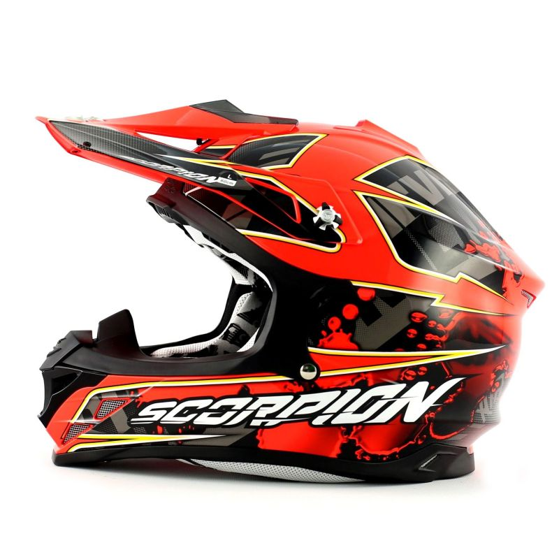 casque cross scorpion vx 15 evo air magma noir rouge fluo pi ces casques moto sur la b canerie. Black Bedroom Furniture Sets. Home Design Ideas