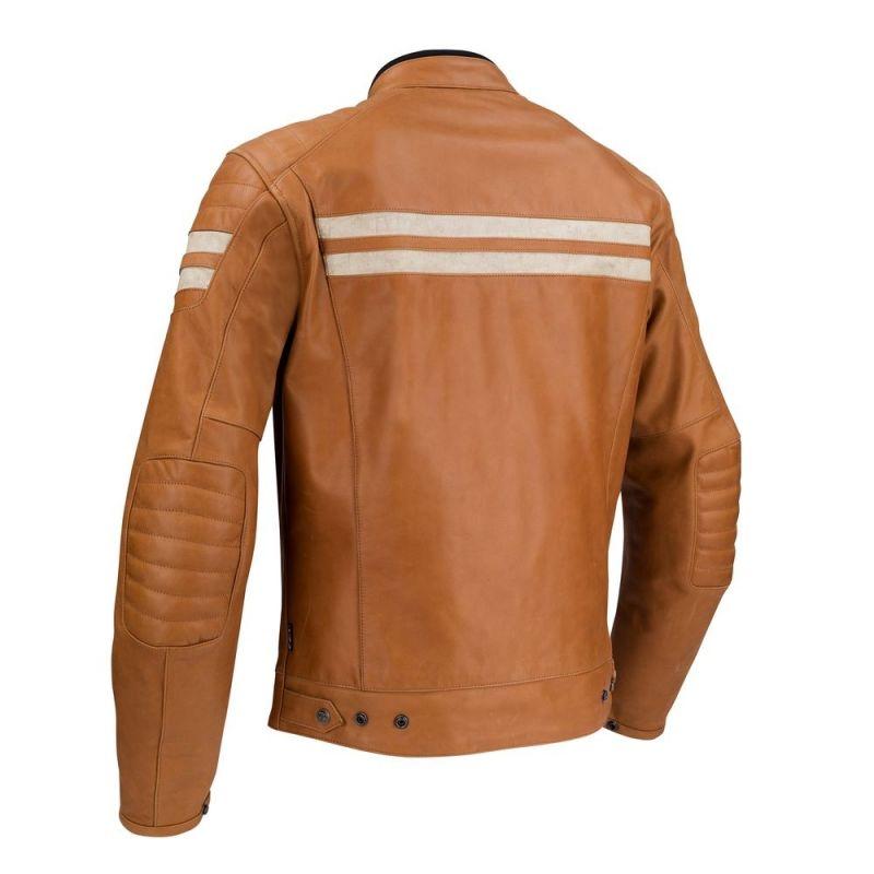 Blouson cuir Segura STRIPE camel/beige - 1