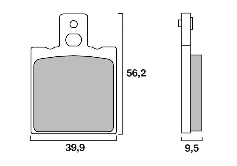 plaquettes de frein brembo carbone c ramique 07ho33cc pi ces freinage sur la b canerie. Black Bedroom Furniture Sets. Home Design Ideas