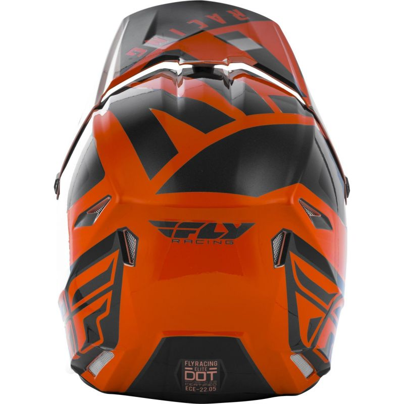 Casque cross Fly Racing Elite Vigilant orange/noir - 3