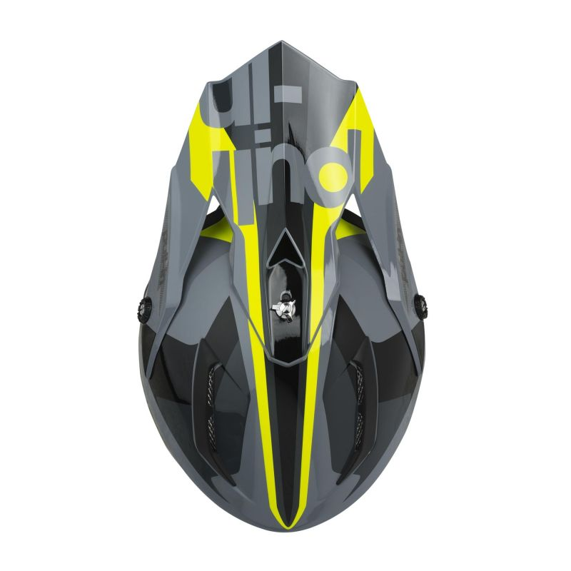 Casque cross Pull-in Race gris/jaune fluo - 2