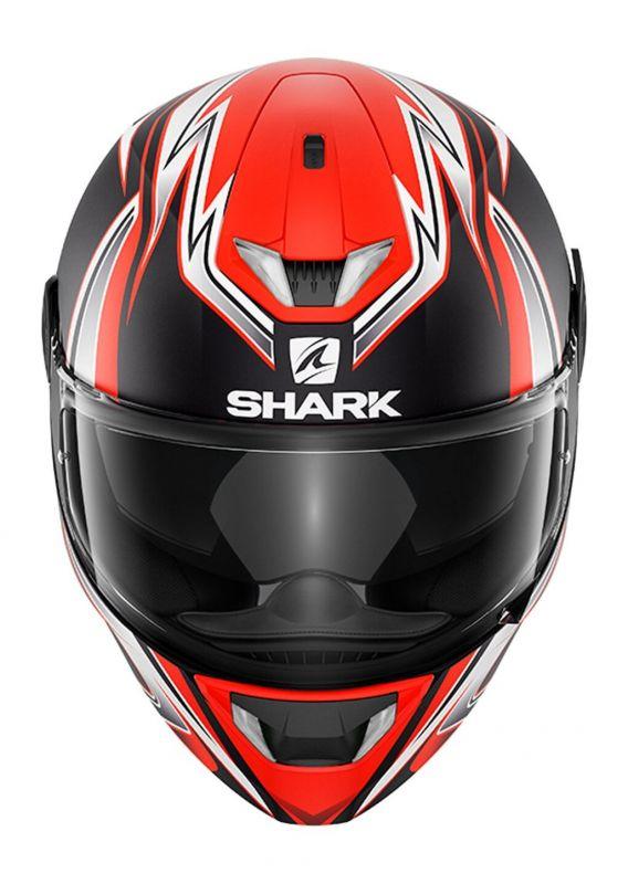 Casque intégral Shark Skwal 2 Réplica Sykes Mat noir/blanc/orange - 2