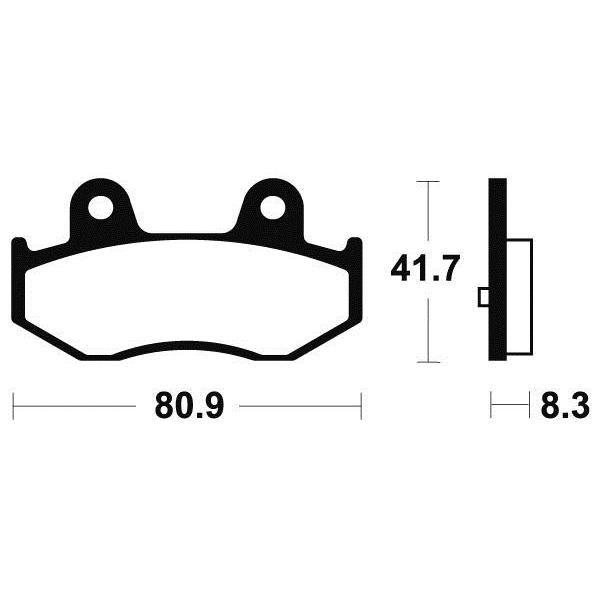 Plaquettes de frein Tecnium MA281 organique