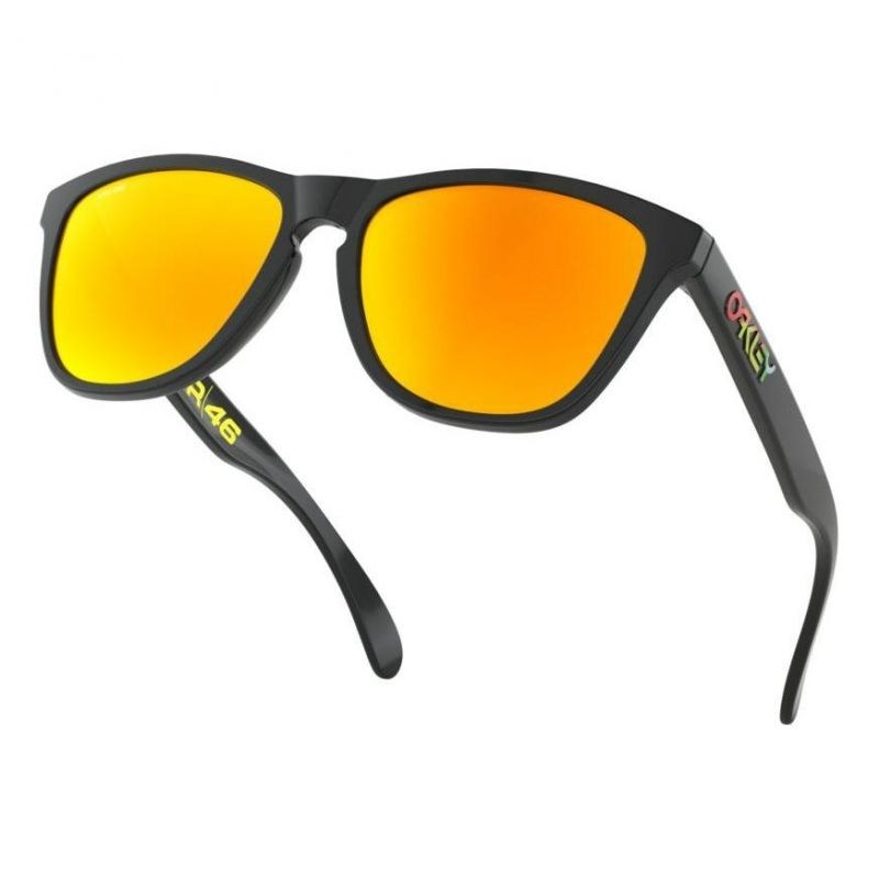 Lunettes de soleil Oakley Frogskins Valentino Rossi Signature Series Polish Black verres PRIZM Ruby - 3