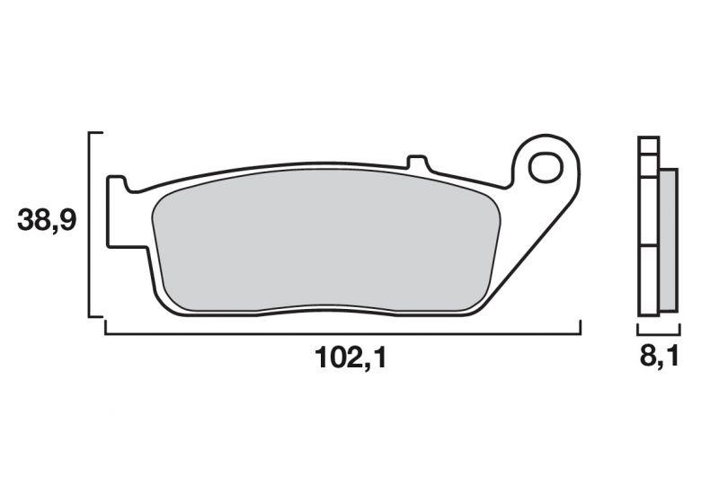 Plaquettes de frein Brembo métal fritté 07HO30SA