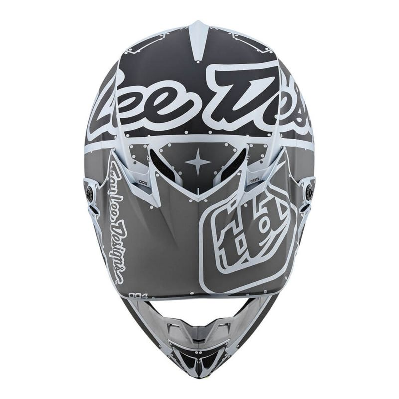 Casque cross Troy Lee Designs SE4 Polyacrylite Factory Mat silver - 3