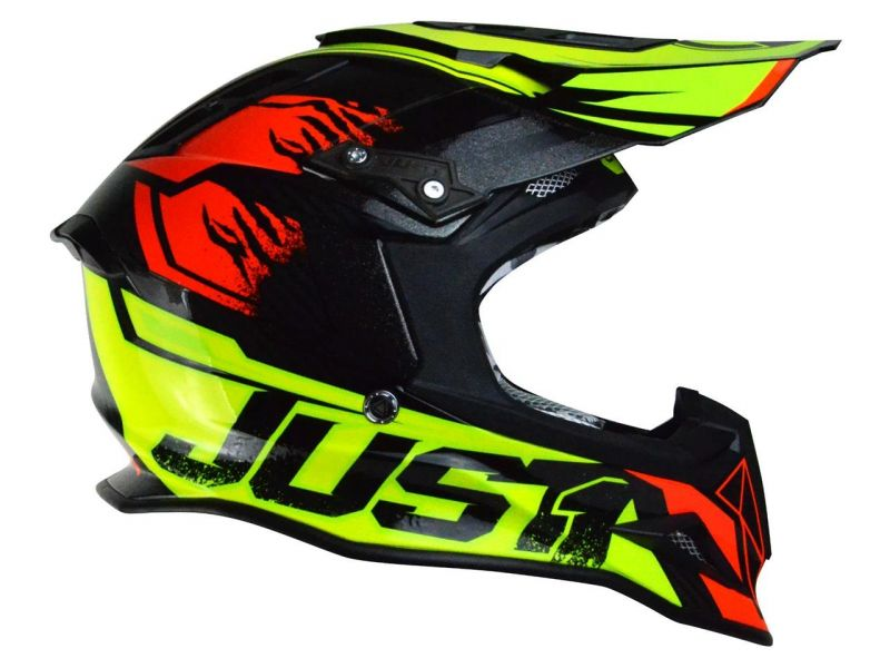 Casque cross Just1 J12 Dominator rouge/jaune - 2