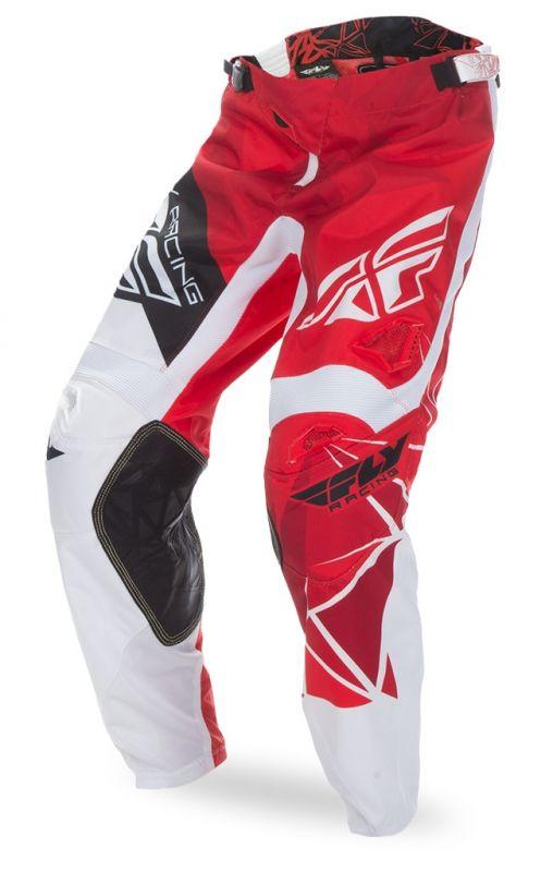 Pantalon cross Fly Racing Kinetic rouge/blanc - 3