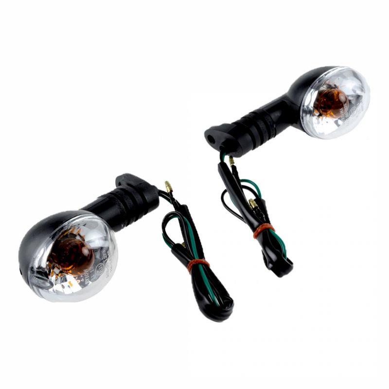 Clignotants noir/transparent Peugeot Ludix /XP6/XPS/XR6 (paire)
