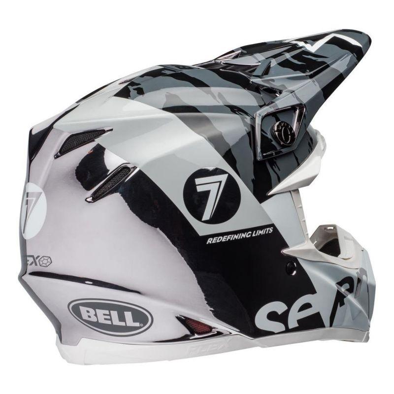 Casque cross Bell Moto-9 Flex Seven Zone noir/blanc/chrome - 2
