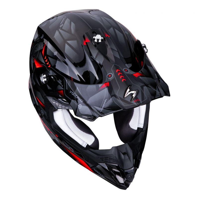 Casque cross Scorpion VX-16 Air Punch noir/argent/rouge - 3