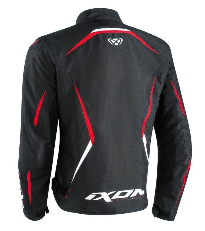 Blouson textile Ixon SPRINTER noir/rouge - 1