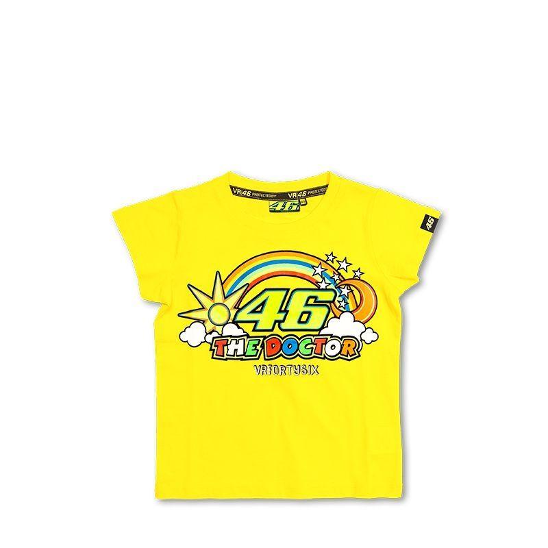 tee shirt enfant vr46 valentino rossi jaune sportswear sur la b canerie. Black Bedroom Furniture Sets. Home Design Ideas