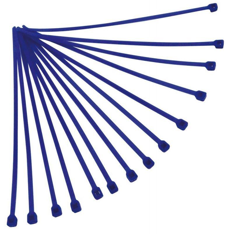 Collier de serrage nylon 4,8x300 mm Racetech bleus