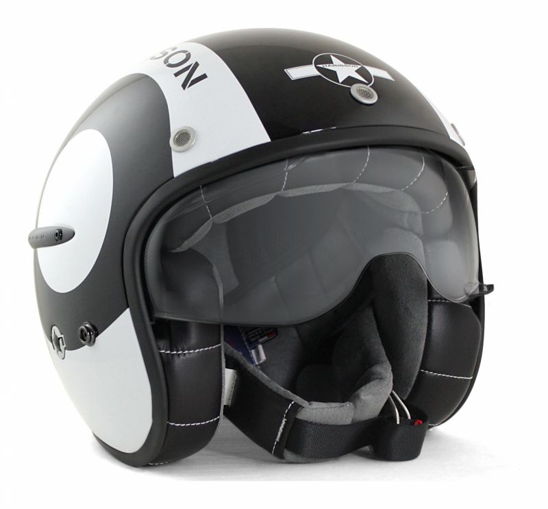 Casque jet Harisson Corsair Snooker noir/blanc