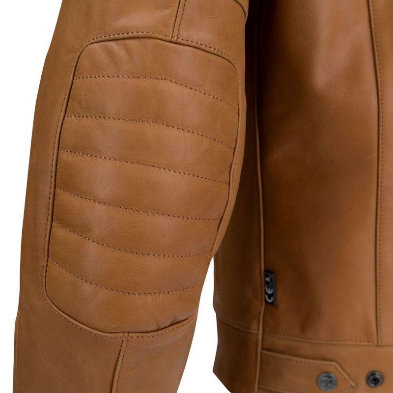 Blouson cuir Segura STRIPE camel/beige - 4