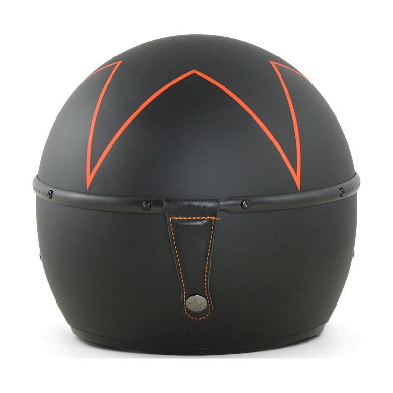 Casque jet Harisson Corsair noir/orange mat - 2
