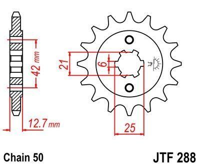 Pignon JT Sprockets Acier pas 530 17 dents - Pour Honda CB 750 F 77-82