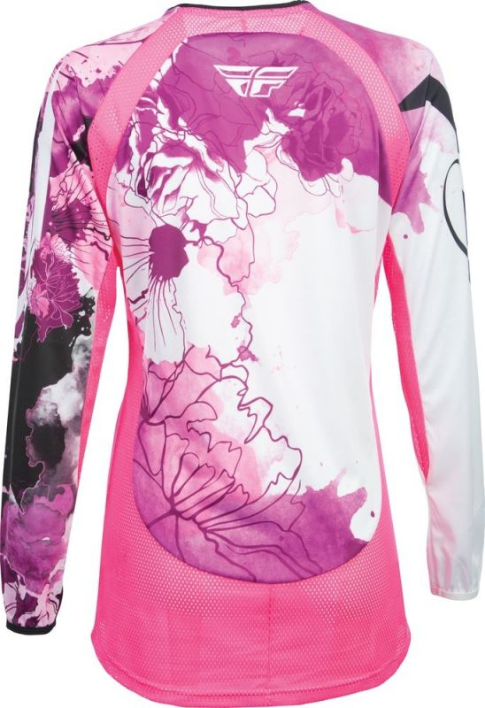 Maillot fille cross Fly Racing Kinetic rose/violet - 1