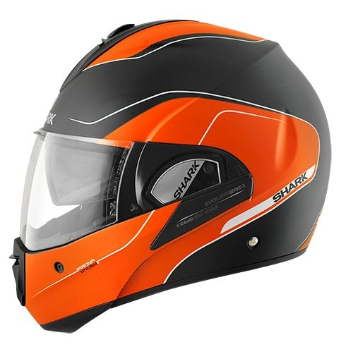 casque modulable shark evoline 3 arona mat noir orange blanc pi ces casques moto sur la b canerie. Black Bedroom Furniture Sets. Home Design Ideas