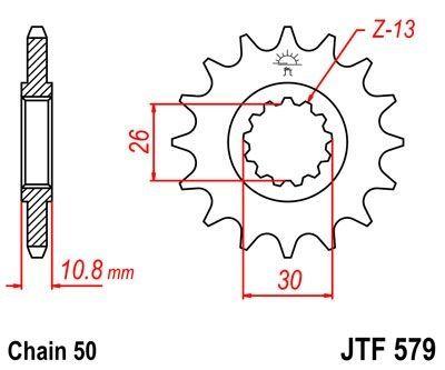 Pignon JT Sprockets Acier pas 530 16 dents - Pour Yamaha YZF-R1 98-03