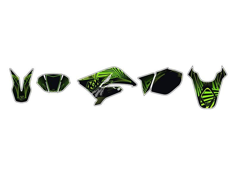 kit d co kutvek graff vert sherco 50 sm r pi ces car nage sur la b canerie. Black Bedroom Furniture Sets. Home Design Ideas