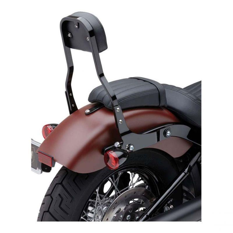 Sissybar amovible Cobra tube carré noir 35,5 cm Harley Davidson FXBB 1745 Softail Street Bob 18-19