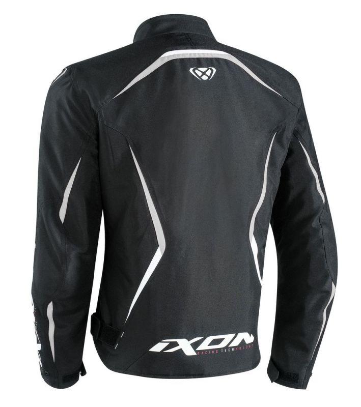 Blouson textile Ixon SPRINTER noir/blanc - 1