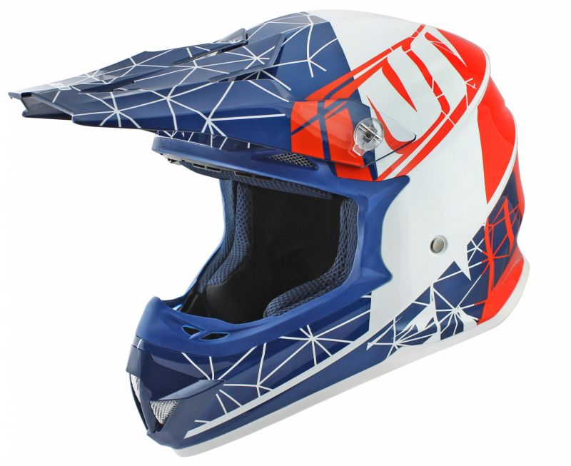 Casque cross Noend ORIGAMI SC15 Patriot bleu/blanc/rouge