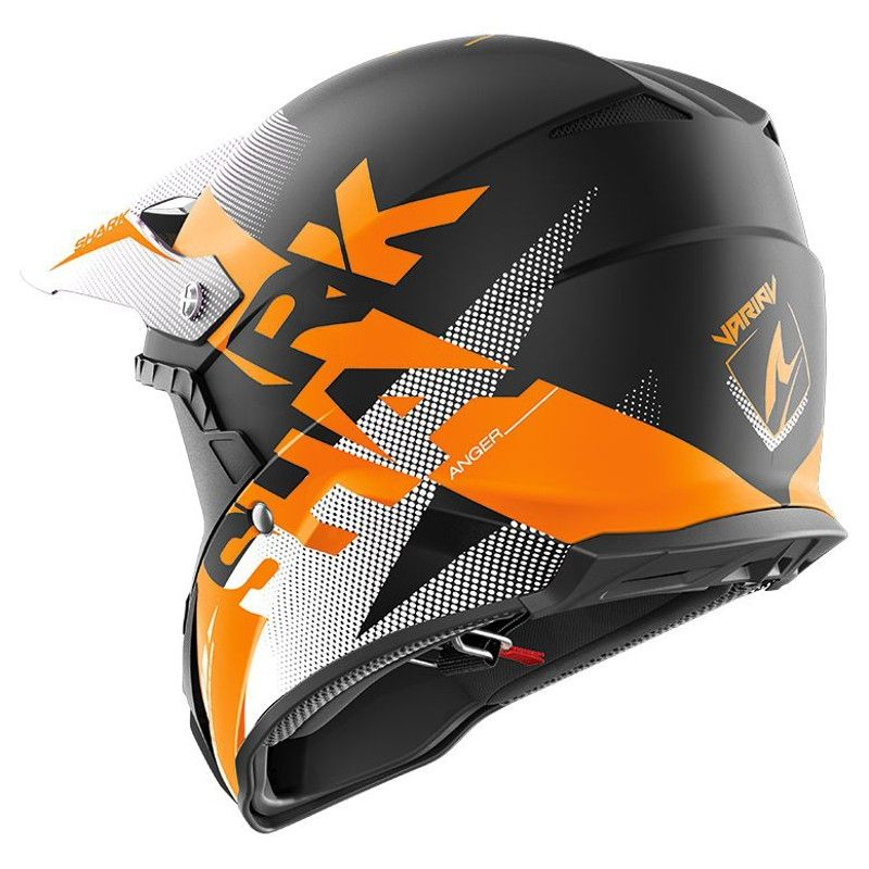 00e8724887782 Casque cross Shark VARIAL ANGER noir/orange/blanc - Casques moto sur ...